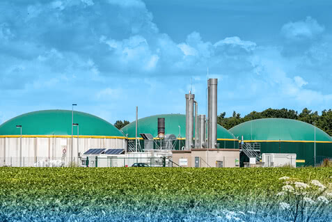 Gaskühler für Biogas, Klärgas, Erdgas, Deponiegas