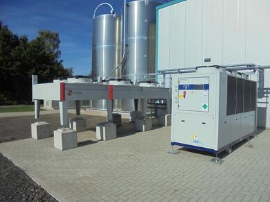 Energiesparsystem mit Rueckkuehlleistung 200 kW