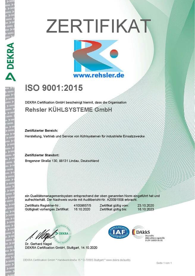 Zertifikat ISO 90012015 gueltig bis 16.10.2023